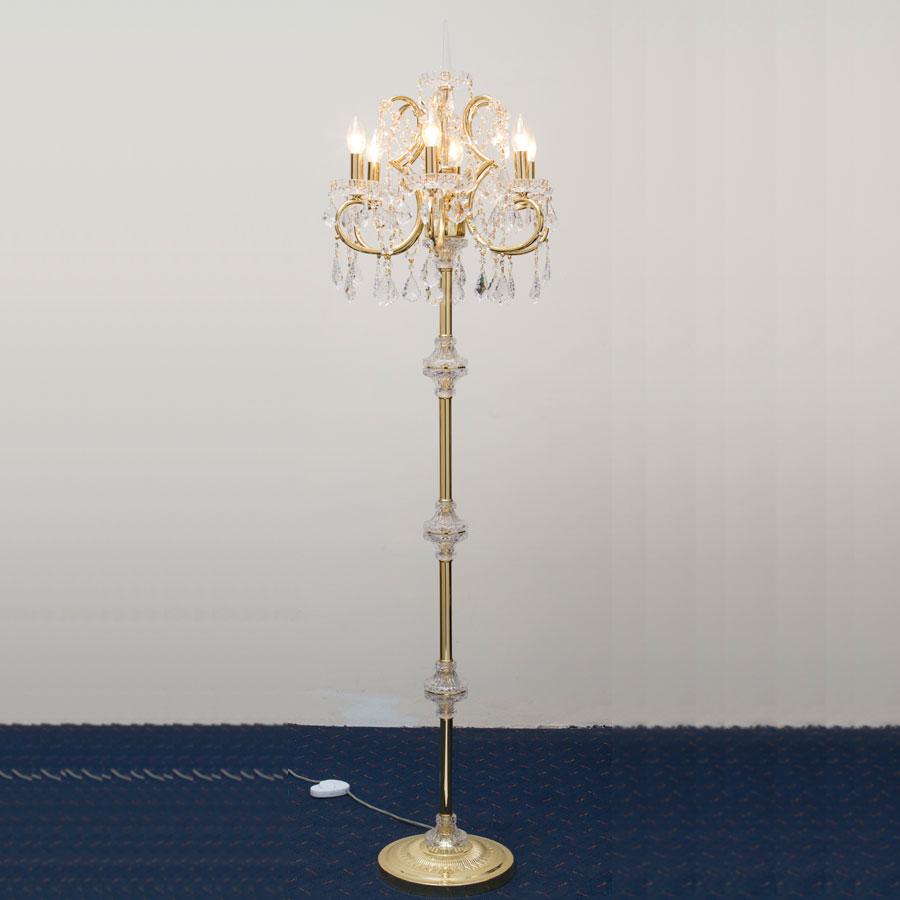 Pandora 6 light floor lamp mirabella for Pandora copper floor lamp